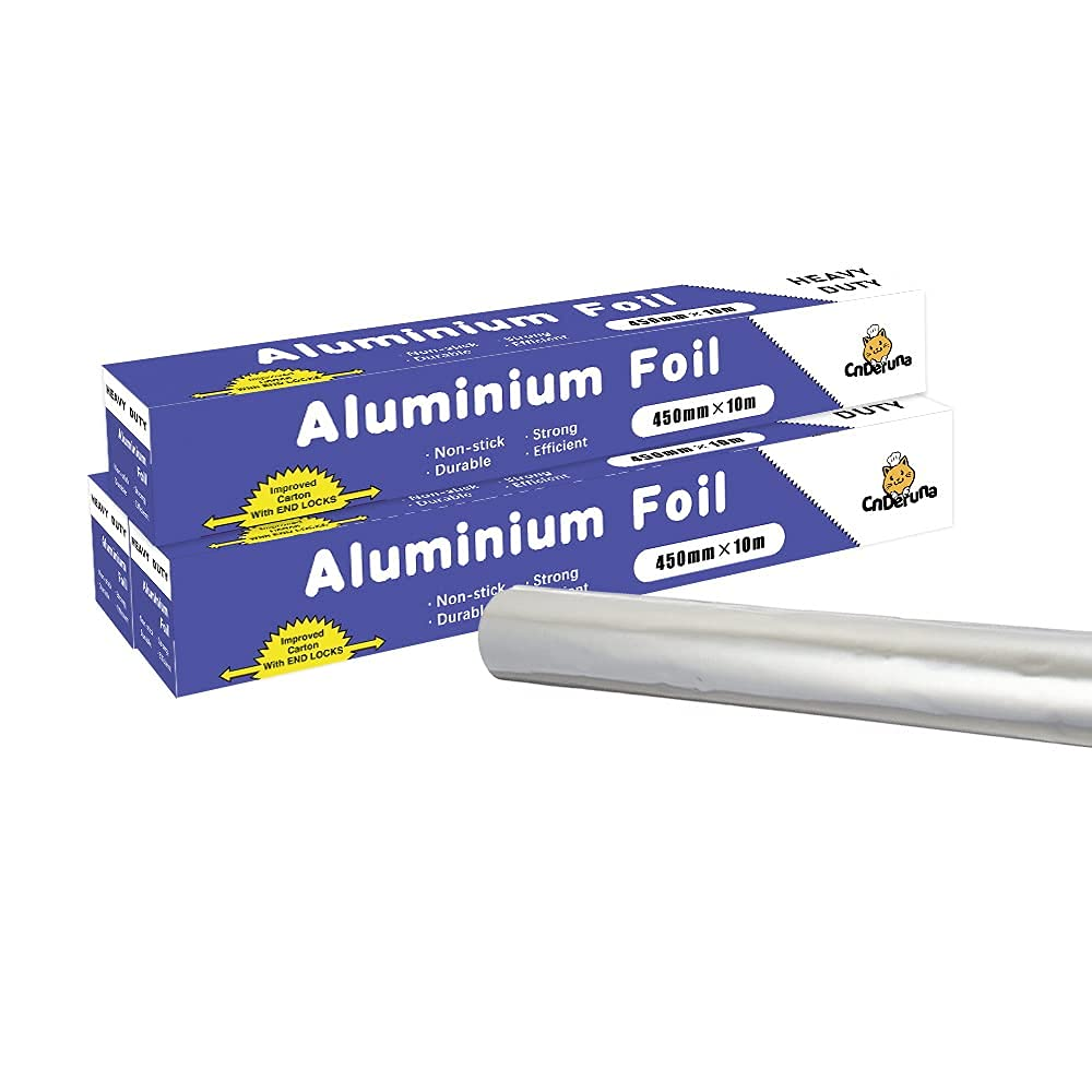 Heavy Duty Aluminum Foil Roll Non-Stick with Extra Cutter Thick Tulsa Mall Spring new work one after another