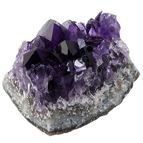 Fashio Ornamental stone Natural Raw Amethyst Quartz Crystal Cluster Specimen Decor Druse Vug Specimen Natural Stone