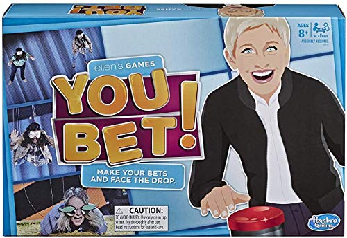 Hasbro Gaming Ellen's Games You Bet Game, Ellen Degeneres Challenge for 4 Players Ages 10 & Up JungleDealsBlog.com