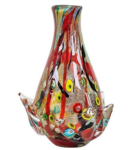 Glasvase Vase Glas im Murano Antik Stil 33cm