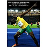 Película Usain Bolt Inspirational / Motivational Quote Poster Pintura de pared decorativa Lienzo Pinturas Arte de la pared Sala de estar-50x70cm Sin marco