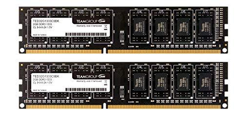 TEAM Team デスクトップ用メモリ DDR3 1333MHz P3-10600 永久保証 EOパッケージ (GBx枚(4GBkit))