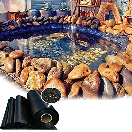 ZYFA Teichfolie 0.2 mm oder 0.5mm Stärken,HDPE UV und witterungsbeständig Schwimmteich Folie Gartenteichfolie Schwarze Gartenpoolmembran Teich Folie