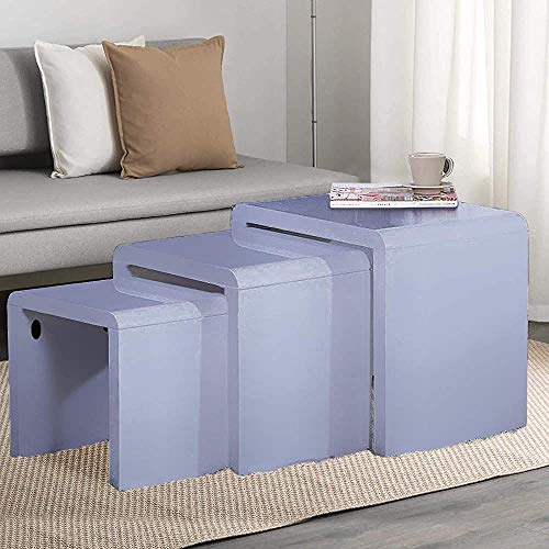 Versatile Side Table Nesting Tables Sofa Tables Living Room Coffee Table Set 3,Grey