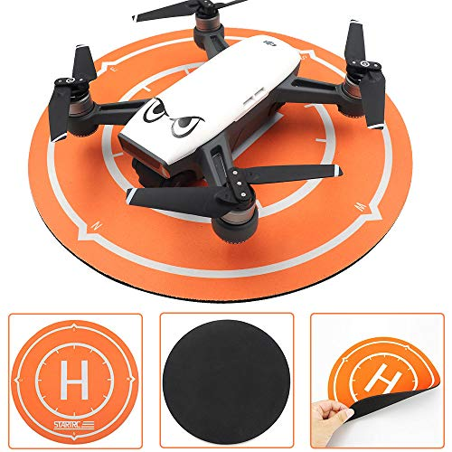 Drone Landing Pad 25x25cm Universal Aircraft Landing Mat Waterproof Foldable Mini Drone Pro Helipad RC Helicopter Landing Accessories Gear Mouse Pad Compatible with All Major Brands