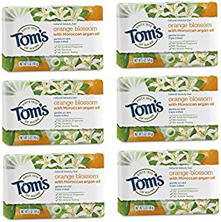 Sponsored Ad - Tom's of Maine Natural Beauty Bar, Bar Soap, Natural Soap, Orange Blossom with Moroccan Argan Oil, 5 Ounce,...