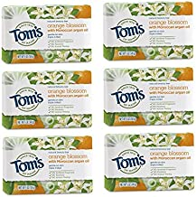 Tom's of Maine Natural Beauty Bar, Bar Soap, Natural Soap, Orange Blossom with Moroccan Argan Oil, 5 Ounce, 6-Pack
