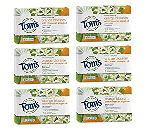 WHAT YOU'LL GET: Contains six 5-ounce bars of Tom's of Maine Natural Beauty Bar in Orange Blossom Scent WASH AWAY GERMS: Cleaning your hands with natural bar soap helps wash away unwanted germs and bacteria GENTLE ON SKIN: Tested by dermatologists to...