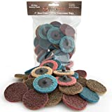 DocaDisc 30PC - 2 inch Roloc Sanding Disc Mixed Pack // Surface Conditioning Discs // Roloc Disc/Air Grinder Disc for Surface prep, Paint Stripping, Grinding & Finishing (Course/Medium/Fine)