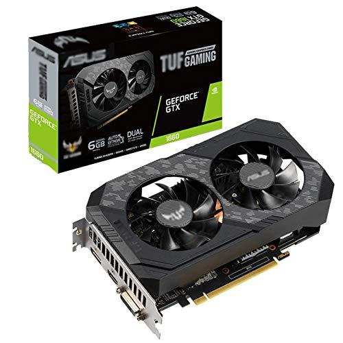 AILINSHA per TUF-GeForce GTX1660-O6G-Gaming Desktop Computer Game Graphics Card GDDR5 6GB, 1530 MHz, Basso consumo, Doppio Sistema di Ventilatore