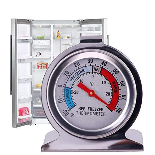 Keyzone Kühlschrank Gefrierschrank Thermometer Rund Edelstahl Temperatur Kühlthermometer
