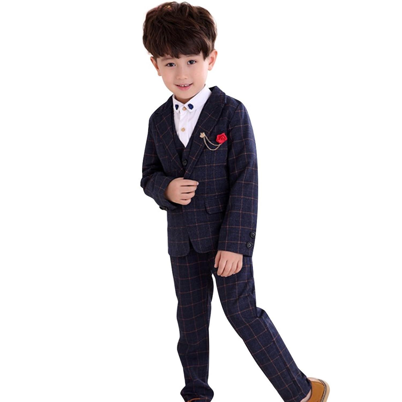子供服 キッズ フォーマル スーツ 男の子 チェック柄 スーツ 紳士服 卒業式 七五三 誕生日 入学式