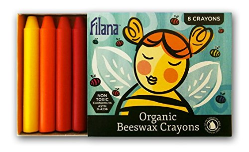 FILANA (8 Stick Crayons) Organic Beeswax Stick Crayons, Natural, Non Toxic, Safe for Children, Handmade in The US, No Paraffin or Petroleum Waxes, Rich Colors, Glide Easily