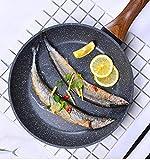 Peakfeng Freying Pan de Leche Pan HOODO MULTIFONA MULTIFONE Fondo Plano Antiadherente Fritorado Pan Cocina de inducción Universal -20cm