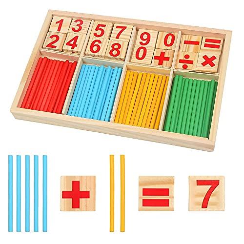 Juguetes Matemáticos Montessori, Juguete Educativo Matemático,Juguete Matemático de Madera, Juguete Matemático Educativo, para Entrenar el Pensamiento y la Inteligencia de los Niños