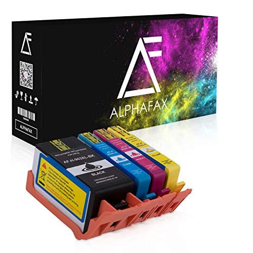 4X Alphafax Druckerpatrone ersetzt HP 903XL Multipack Schwarz Cyan Magenta Gelb