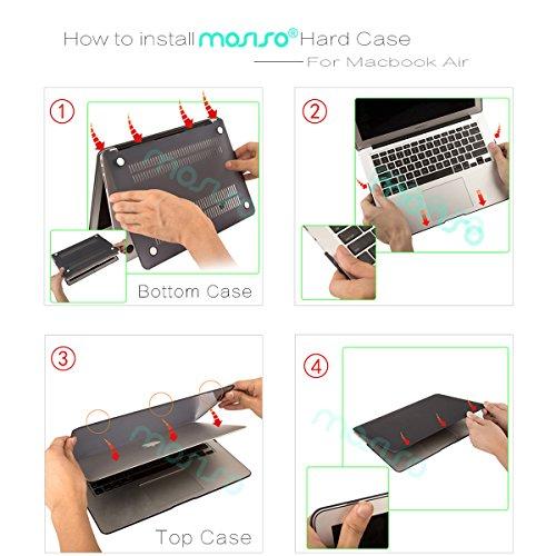 『Mosiso - MacBook Air 11インチ プラスチック ハードケース 薄型 耐衝撃 保護 シェルカバー (対応モデル:A1370 / A1465) (ローズ ゴールド)』のトップ画像