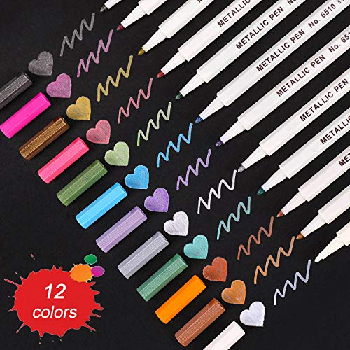 Metallic Fine Point Marker Pens $4.58 (40% OFF Coupon)