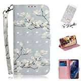 GGQQ YDYX AYDD 3D Coloré Dessin Magnolia Motif Horizontal Flip Cuir Case pour Nokia 9, avec...