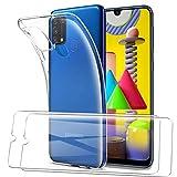 SMYTU Funda para Samsung Galaxy M31,Transparente Carcasa Ultra-Delgado Silicona Suave TPU Gel Bumper Protectora Case Cover para Samsung Galaxy M31-Transparente