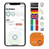 musegear Schlüsselfinder mit Bluetooth App aus Deutschland I Maximaler Datenschutz I orange 1er...