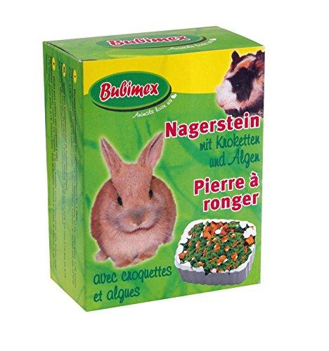Bubimex Piedra de Ronger Croquettes/Algas (para pequeño Animal–Lote de 3