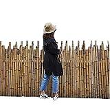 LJIANW PVC Frangivista per Recinzione, Naturale Recinto di Canne, Screening sulla Privacy Schermo Solare Schermo da Balcone Scherma di Canna Screening di bambù Recinzione del Giardino, 3 Taglie