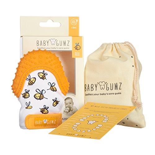 Teething Mitten for Babies by Baby Gumz - Orange