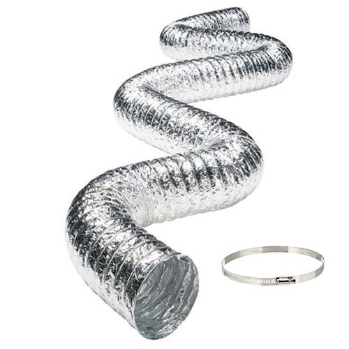 AlorAir Dehumidifier Aluminum foil Inlet Duct with a Diameter of 12 inches and 13 feet Long (12 inches)