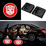 LED Courtesy Step Lights Ground Lamp Kit Replacement for Car Door Decor(2Pcs), Welcome Car Logo LED Projector Shadow Ghost Light with Magnet Sensor Entry- Drill Free (Autobots Transformers)