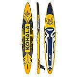 KOHALA Tabla de Paddle Surf Thunder Race Color Amarillo - Tipo Race - Capacidad Máxima 170 kg - Aletas: 1 de Sistema Usbox