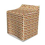 """Lunarable Soda Washer Cover, Western Meal with Hot Dog Burrito Sandwich Lunchtime Friends Hangout, Washroom Decor with Dust Protection, 29"""" x 28"""" x 40"""", Pale Peach Multicolor"""