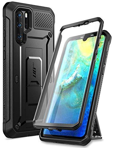 SUPCASE Cover Huawei P30 PRO, Custodia a 360 Gradi Protezione per Schermo Integrata con [Kickstand] Full-Body Rugged Case [Serie Unicorn Beetle PRO] per Huawei P30 PRO 2019 Release, Nero