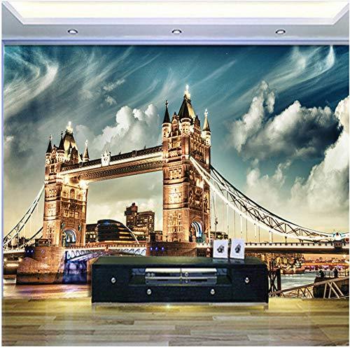 xbwy London City Wallpaper Customized London Tower Bridge Several Kinds Style Modern Vintage Nostalgic European Architectural-120X100Cm