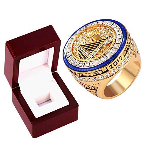 Anillos de campeonato de Golden State Warriors, 1975 Stephen Curry Champion Ring Basketball Réplica personalizada Anillos de diamante para recuerdos de hombres, tamaño 8 ~ 14 con caja 8