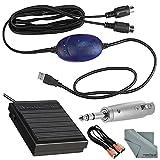M-Audio Midisport USB uno portátil 1x 1USB MIDI Interface para Mac y PC y Deluxe Accessory Bundle w/teclado Sostener Pedal, adaptador, dual Midi Cable, y gamuza de fibertique