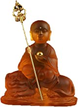 ZGPTX The Small Buddha Statue of The Tibetan King Yusa Rides The Tibetan Car Ornaments Imitation Glass Ping-Off Child's Bu...