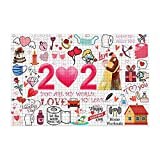 """💓[Jigsaw puzzle includes 1000 pieces and measures 30"""" x 20"""" when completed. 💓[Made of safe and non-toxic paper material, smooth, no burr, and not easy to layer. 💓[Special surface film treatment, environmental printing ink, exquisite pattern. 💓[Great ..."""