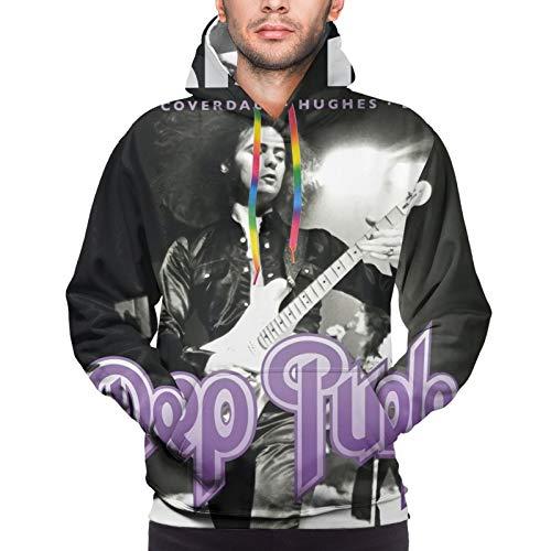 Deep Purple Live in Paris 1975 Men's Hooded Shirt Hoodies Sweater Novelty Hoodie Sweatshirt Jacket 3X-Large