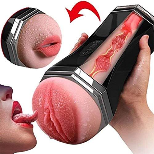 YYQXJY Tasca Vibrante for Tazza Orale da Uomo con 8 potenti modalità di aspirazione a Vibrazione Massaggio Muscolare Profondo T-Shirt for Dispositivo Maschile