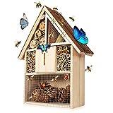 Keweni Hotel Casa de Insectos, Incubadora de Caja de Nido de Abejas, Decoración de Jardín,...