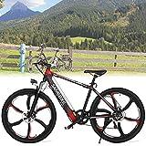 Portátil Bici De Montaña Eléctrica para Adultos, 26' Neumático Grueso Bicicleta Eléctrica Playa De Nieve Bicicleta Ebike 350W Motor Sin Escobillas, Batería De Litio Recargable De 36V 8Ah