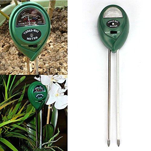 3in1 Bodentester digitales Bodenmessgerät,pH-Bodentest zur Ermittlung des Boden-pH-Wertes des Kalkbedarfs,für Pflanzenerde, Gartenbau, Bauernhof, Rasenpflege