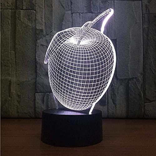 Nueva luz 3D, luz LED, luz de estado de ánimo USB, luz nocturna para niños, control remoto emisor de luz táctil de 7 colores, regalo creativo de cumpleaños de Navidad