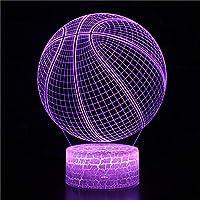 3Dイリュージョンナイトライト ボールの形 子供のための3Dランプ照明7LED色変更タッチテーブルデスクランプクールなおもちゃギフト誕生日目の錯覚ランプクリスマスの装飾