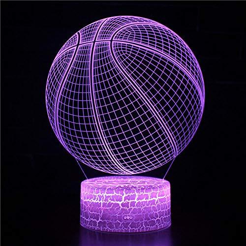 certainPL Amantes del fútbol, Lámpara LED 3D Bombilla de luz Nocturna Decoración de Fiesta Regalo Dibujos Animados, Lámpara de Mesa Decoración de atmósfera, Regalos de cumpleaños para niños
