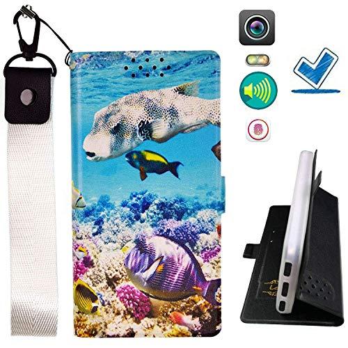 Huayijie HYJPT Hülle für Doogee Voyager2 Dg310 Hülle Flip PU-Leder + Silikon Cover Hülle Fest YU