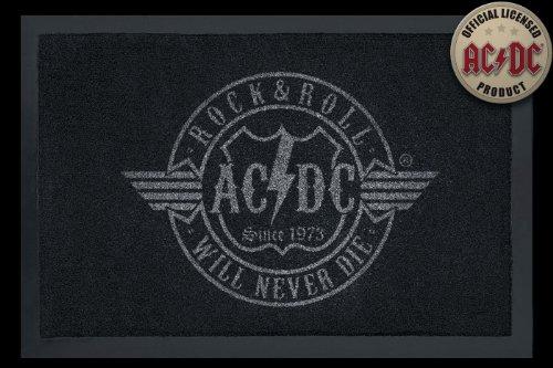 Rock Bites–Felpudo (AC/DC–R 'n' r Puerta Alfombrilla, Esterilla, limpiabarros (100818)