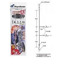 ハヤブサ(Hayabusa) 海戦吹き流し ツイストケイムラレインボー&から鈎4.5m 4-4-4 SN137