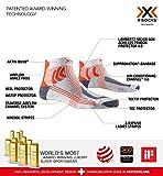 X-Socks Marathon Retina Woman Calcetines Deportivos Calcetines Para Correr Mujer Socks Calcetines, Mujer, White / Orange, 35/36